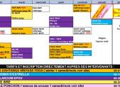 Planning de la salle CAVY Shala à l'Espace Rossini